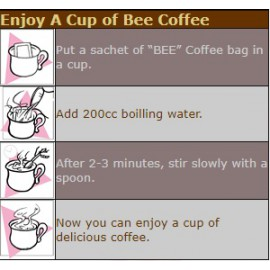Bee Kopi O without Sugar 20'x10GM