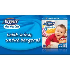Drypers Wee Wee Dry Size M (6-11KG) 52PCS