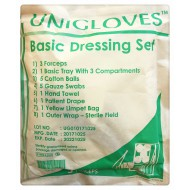 Unigloves Basic Dressing Set (3Forcep)